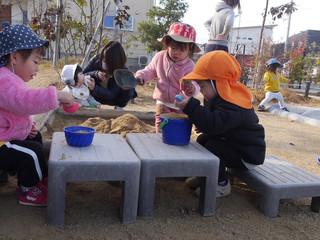 砂遊び✨ オレンジ組1歳児