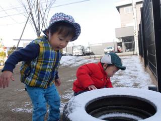 雪遊び⛄️ オレンジ組1歳児
