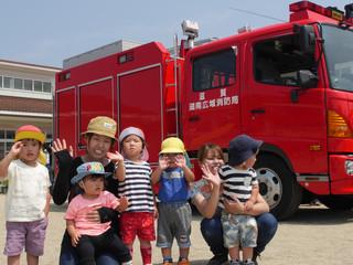 消防車見てきたよ🚒