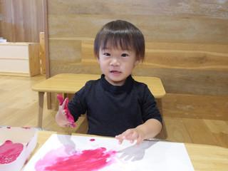 えのぐあそび🌈 オレンジ組1歳児