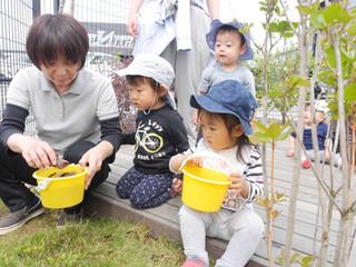 お外で遊んだよ☺️✨ オレンジ組1歳児