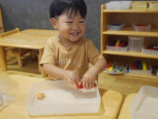パプリカの収穫をしたよ〜💕 オレンジ組2歳児