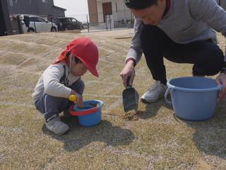 芝の手入れのお手伝い❤