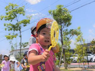 シャボン玉😃✨ オレンジ組2歳児
