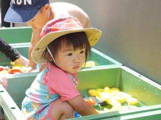 プール遊び🌴🏖💦 オレンジ組1歳児