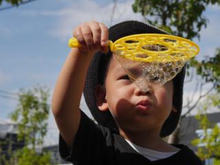「シャボン玉😊✨」 オレンジ組2歳児