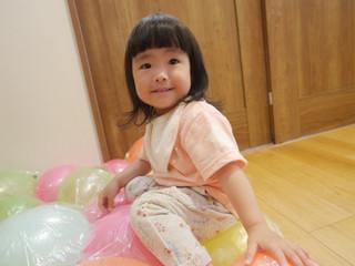 風船マット🎈 オレンジ組1歳児