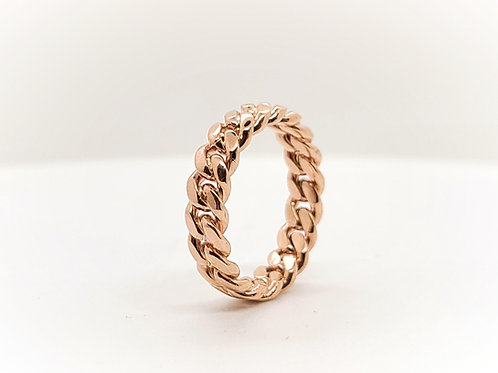 GOLD CUBAN RING 5MM