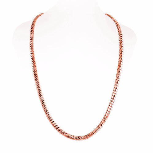 18K ROSE CUBAN LINK CHAIN (7MM)
