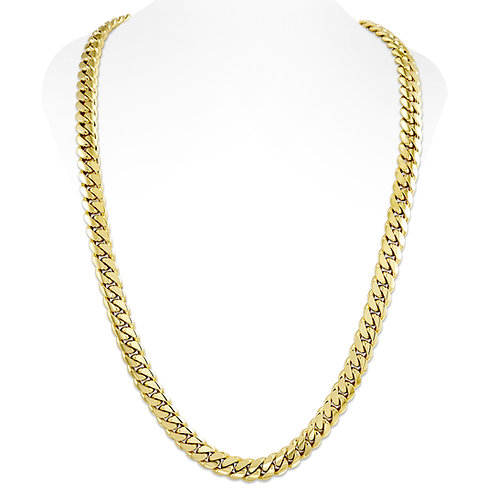 GOLD CUBAN LINK CHAIN (12MM)