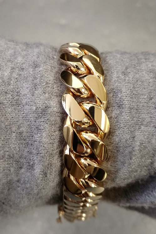 18K CUBAN LINK BRACELET (10MM)