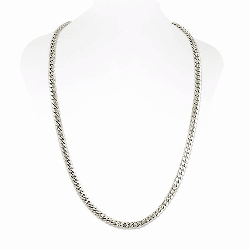 14K WHITE CUBAN LINK CHAIN (6MM)