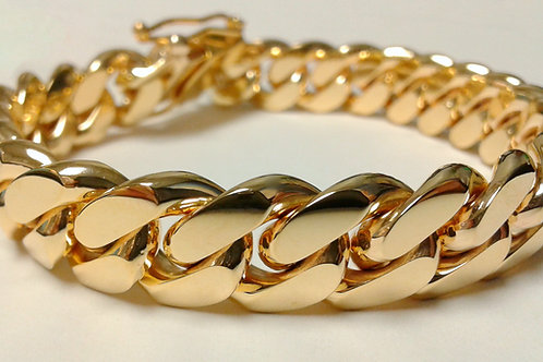 10K CUBAN LINK BRACELET (14MM)