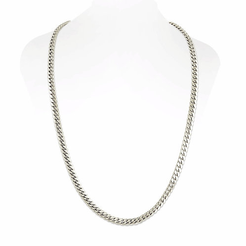 SILVER CUBAN LINK CHAIN (5MM)