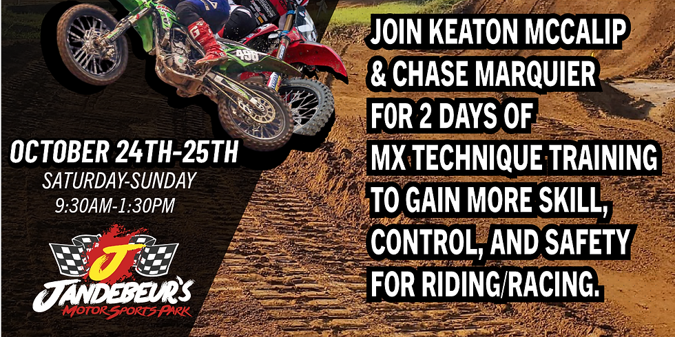 2 DAY RIDING CLINIC WITH KEATON MCCALIP & CHASE MARQUIER