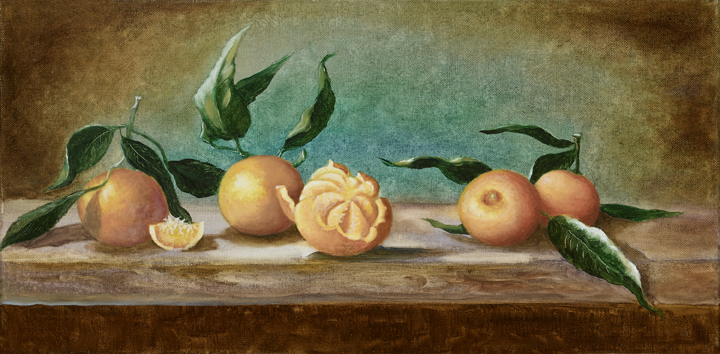 Tangerines on the table