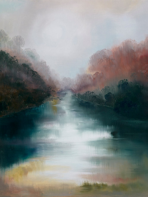 River in the moonlight