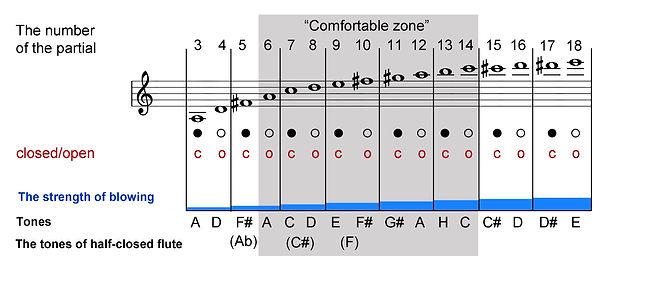 Overtone flute scale