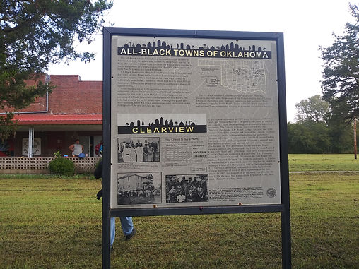 Clearview town history board