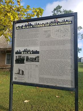 Boley town history board