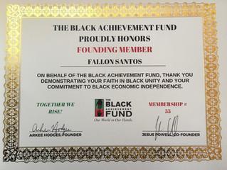 BAF Founding Member Certificate!