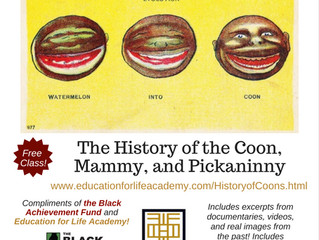 Free Online Black History Class: History of the Coon, Mammy, and Pickaninny and Blackface