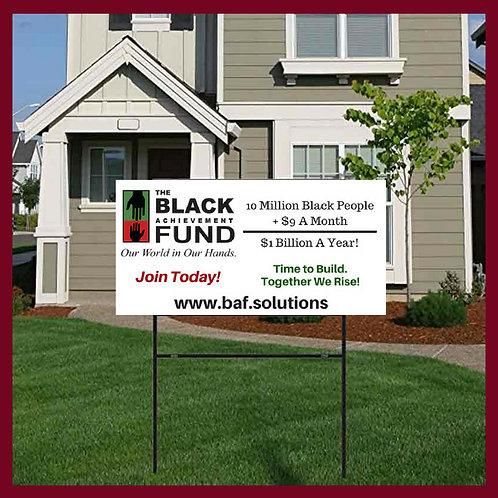BAF Campaign Yard Sign