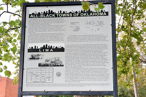 Lima town history board