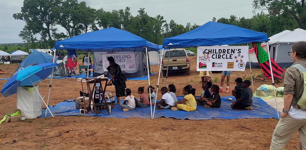 Children's Circle at Juneteenth celebration 2021, Freedom Georgia, Atlanta