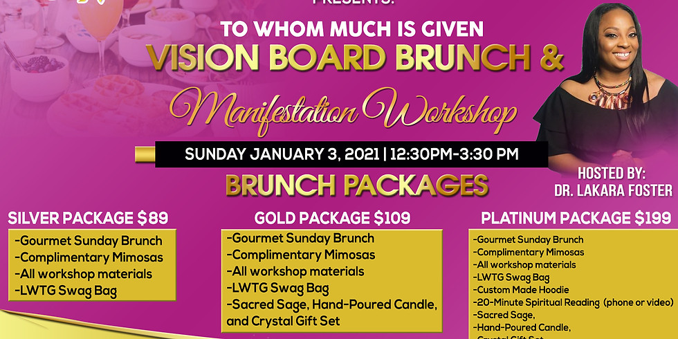 To Whom Much is Given - Vision Board Brunch