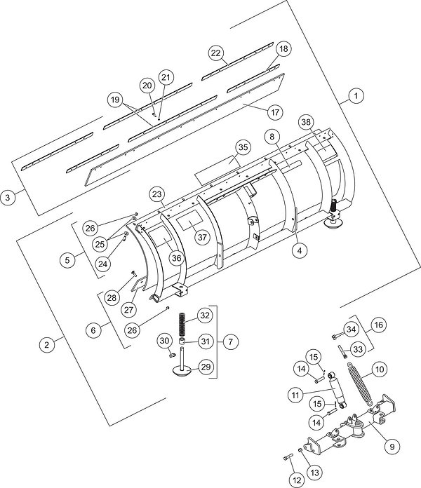 UM2_PRO_PLOW_Series_2_Blade_Assembly_051