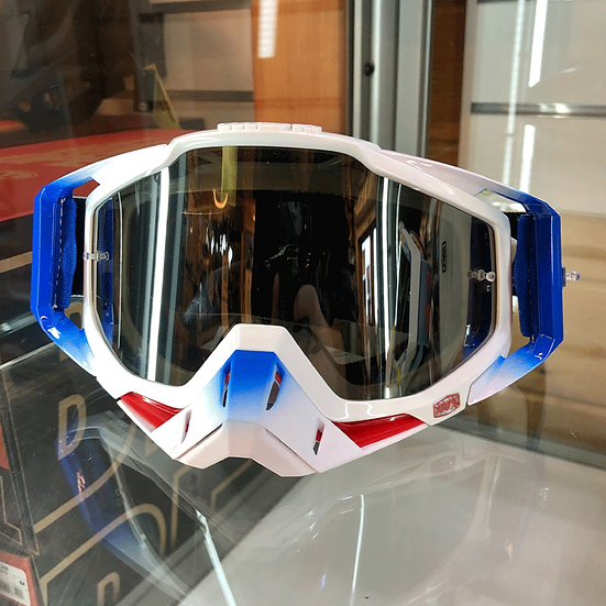 100% Racecraft Cubica Goggle Clear/Mirror Red Lens