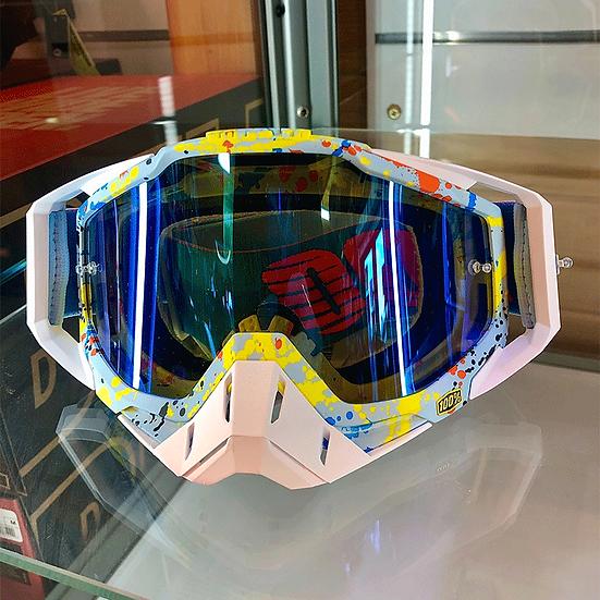 100% Racecraft Goggle Hyperloop - Mirror Blue Lens
