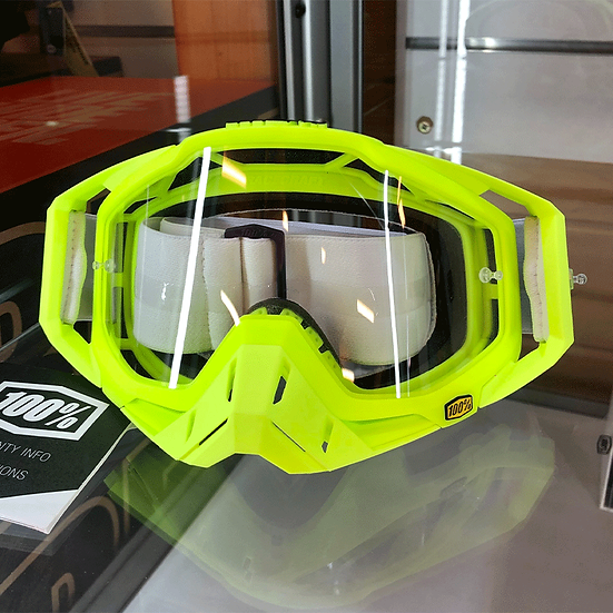 100% Racecraft GP21 Goggle Green/Clear Lens