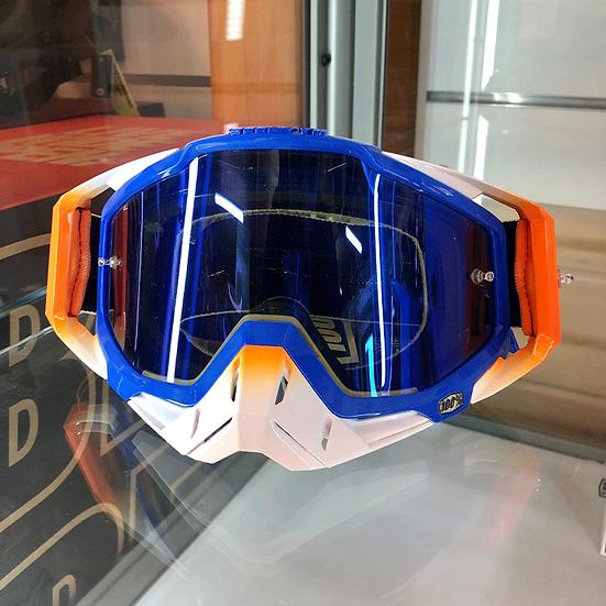 100% Racecraft Roxbury Goggle Mirror Blue Lens