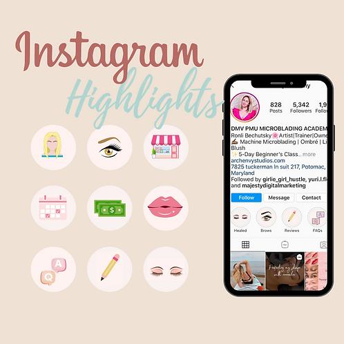 Instagram Story Highlights Set
