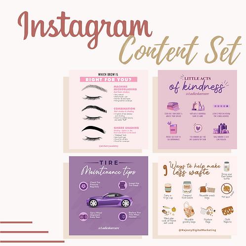 Instagram Content Set