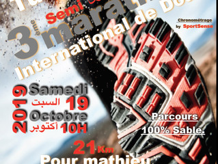 Semi-marathon de Douz 21km pour Mathieu 2019