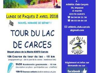 Course autour du lac de Carces 2018