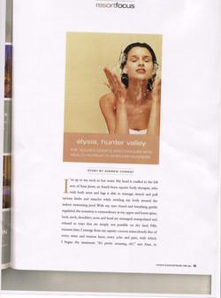 Luxury Travel Magazine article 1st page
