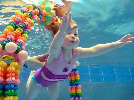 Aquanat baby swim water girl underwater