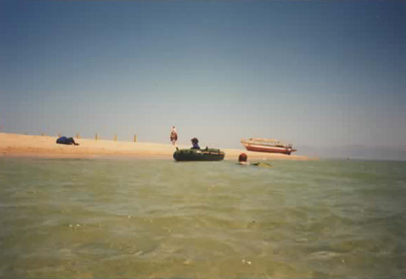 Asif playing in the Red Sea
