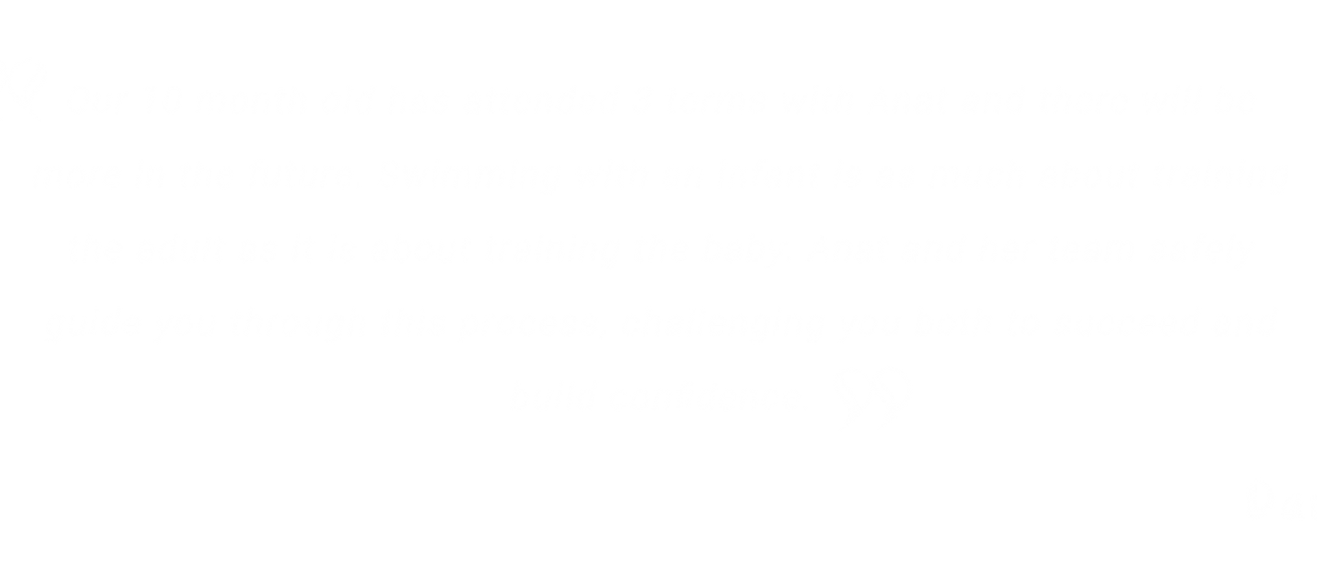 Testimonial baby swimming lessons Perth