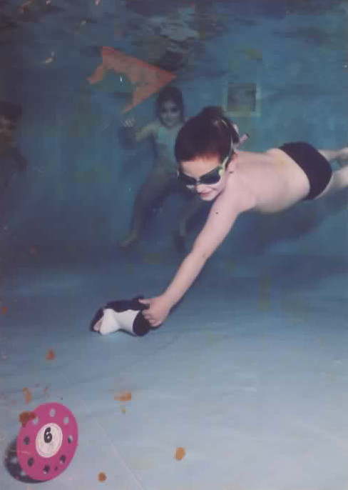 3rd son Asif playing under the water