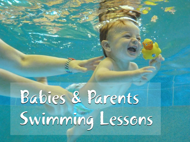 Aquanat baby and parents swimming lesson