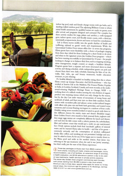 Luxury Travel Magazine article 3rd page