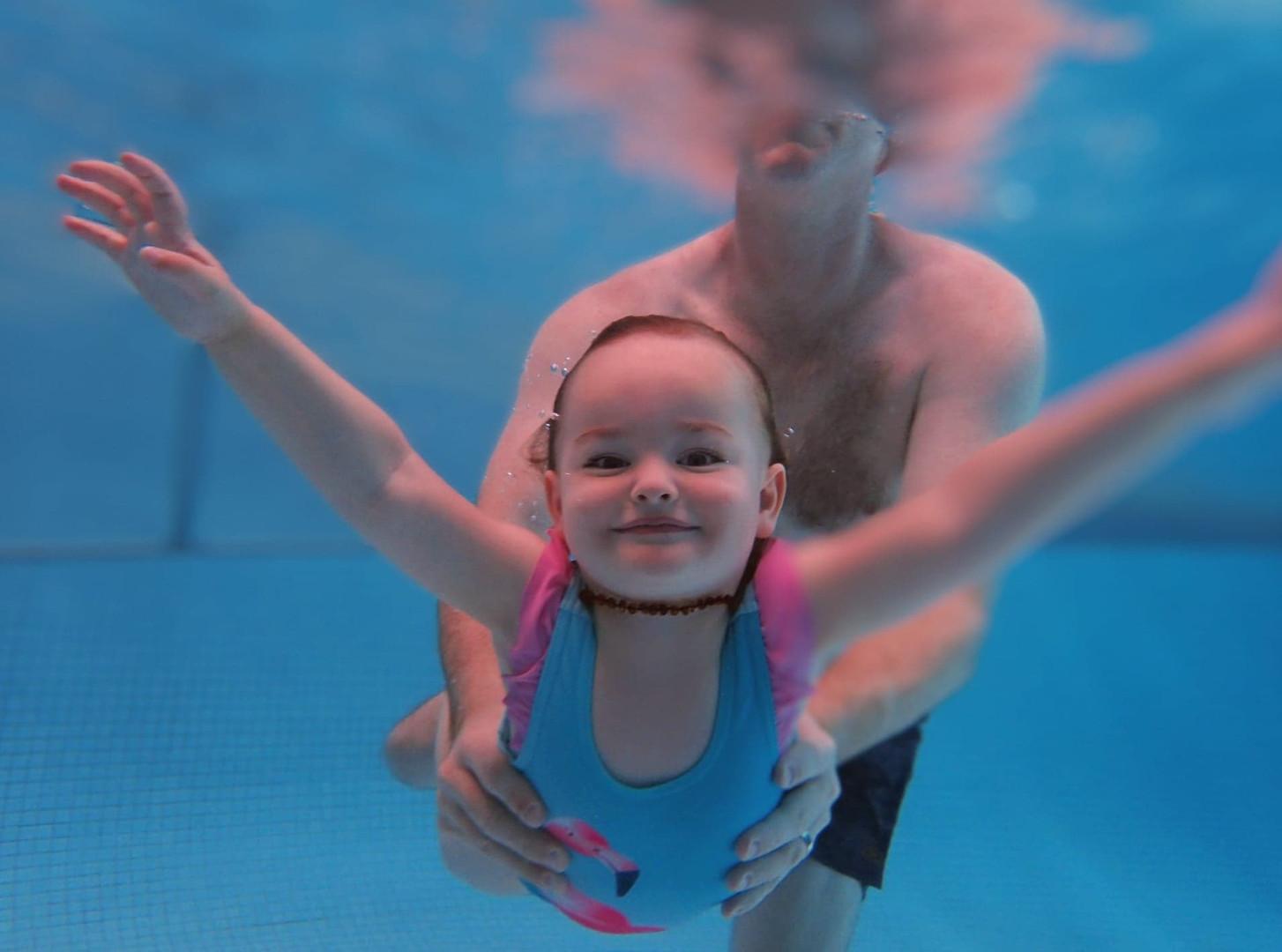 aquanat swim lessons toddler underwater