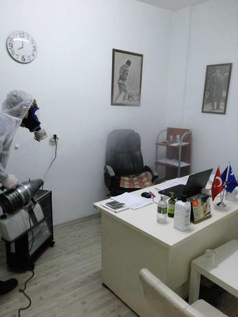 Ofisler ve tüm kapalı Alanlarda Dezenfeksiyon Hizmeti.