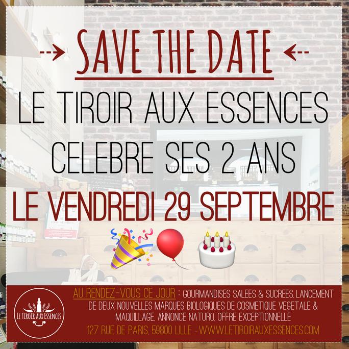 Le Tiroir aux Essences fête ses 2 ans ! RDV le 29.09.17 en boutique !!!