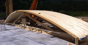 Curved Xlam walls for a 5-storey building in Verona